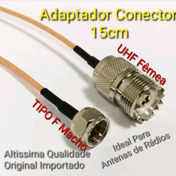 Cabo Para Antenas Radio Conector Uhf Fêmea / Tipo F Macho