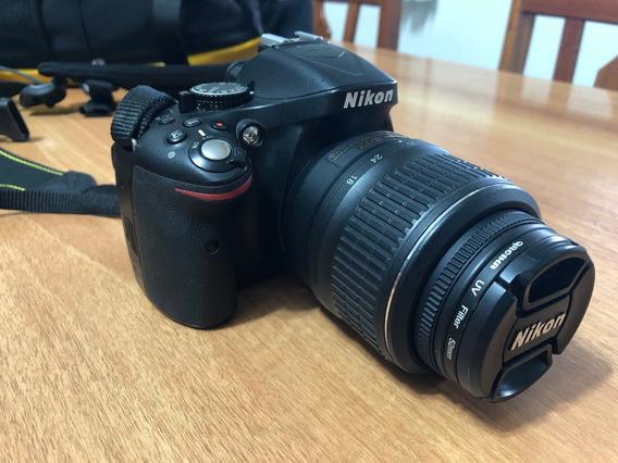Câmera Dslr Nikon D5200 + Lente Af-s Dx 18-55mm