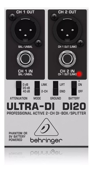 Direct Box Di 20 Behringer Ultra Di-20 2 Canais