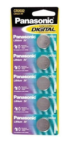 Bateria Panasonic Lithium 3v Cr2032 5 Un. 10433