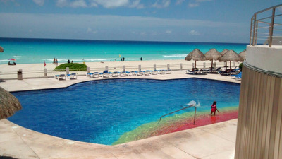 Hospedaje En Cancun Departamento Amueblado Frente Al Mar