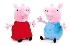 Peluches Pepa Pig Y George Antialergicos 40 Cm Alto