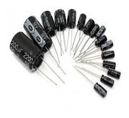 Kit C/ 5 Peças - Capacitor Eletrolítico 680uf X 50v 680x50