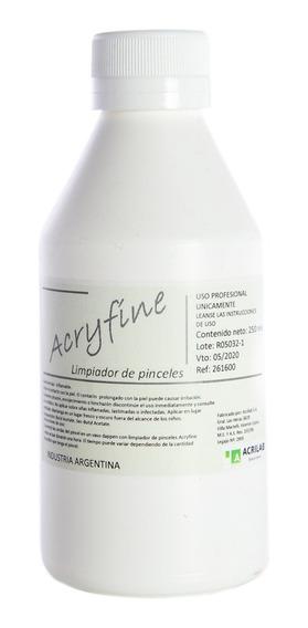 Acryfine Líquido Limpiador De Pinceles Manicuría 250ml