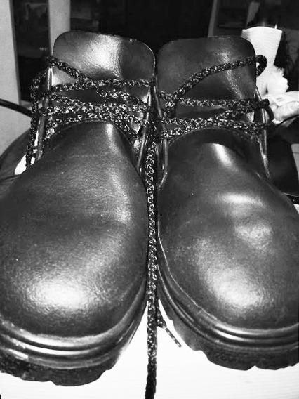 Zapato Febo De Trabajo Nuevos Nº 44 Cuero Y Caucho Negro