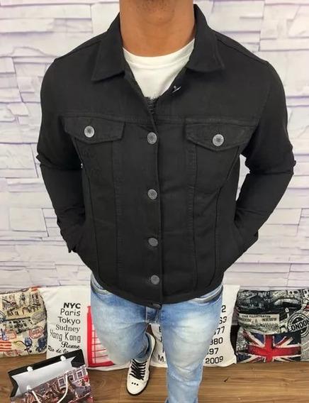 Jaqueta De Grife Multimarcas Masculina Jeans Slim Fit Top