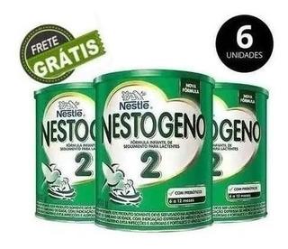 Fórmula Infantil Nestlé Nestogeno 2 800g Caixa Com 6 Latas