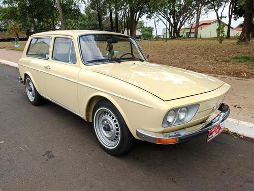 Vw Variant 1.600 - 1975 - Gasolina - Placa Preta