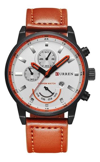 Reloj Curren 8217 Cuarzo Resistente Al Agua Correa De Cuero