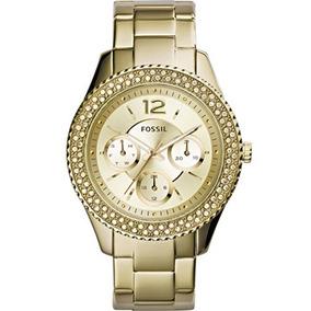 Relógio Fossil Feminino Ladies Gold Es3589 Nota Fiscal Eletr