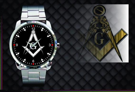 Relógio De Pulso Personalizado Maçonaria Maçon - Cod.1105