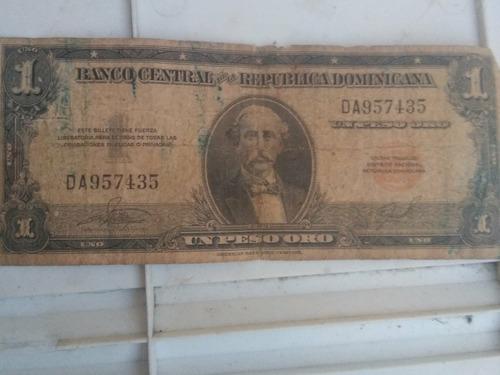 Imagen 1 de 10 de Monedas De Un Peso Y 50 Centavos Billete De Un Peso Trujillo
