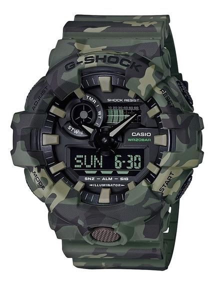 Relógio Casio G-shock Ga 700cm 3a Camuflado Lançamento Ga700