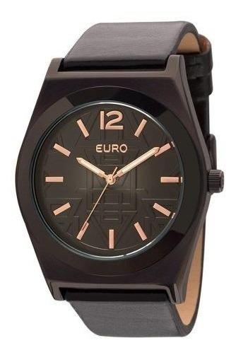 Relógio Feminino Euro Analógico Preto - Eu2036jh/2p Tribal