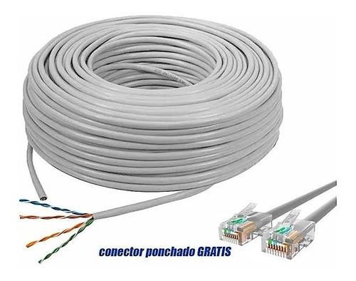 Cable Utp/ Rj45/ Ethernet, 20 Metros Ponchado Categoria 5e.