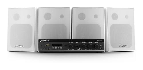 Kit Som Ambiente Amplificador Slim + Caixa + 10m Fio Frahm