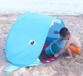 Piscina Tenda Praia Proteção Sol Plástico Infantil Barraca