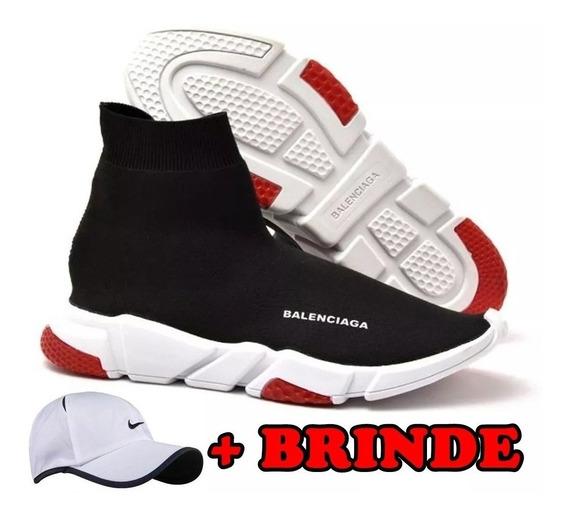Tenis Balenciaga Speed Trainer Cano Alto Todos Modelos +boné