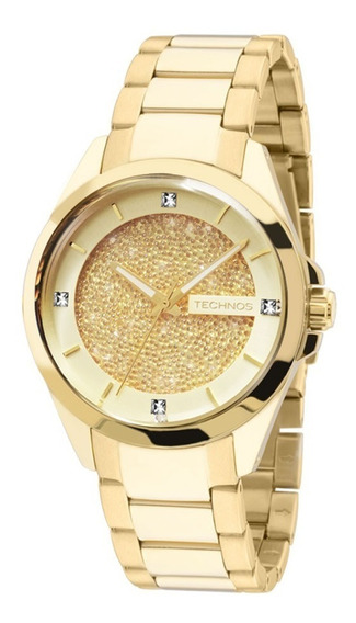 Relógio Technos Feminino Elegance Crystal 203aaa/4x Dourado