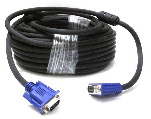 Cable Vga De 50 Metros C/doble Filtro Para Pc Laptop Tv Lcd