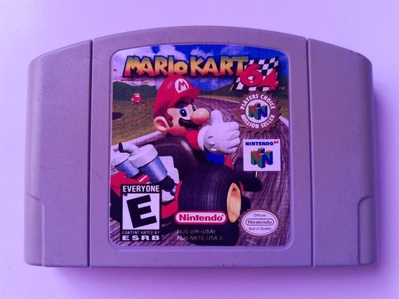N-64: Mario Kart 64 Original Americano! Raríssimo! Novinho!