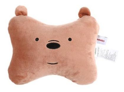 Almofada Para Encosto Ursos Sem Curso Miniso - Pardo