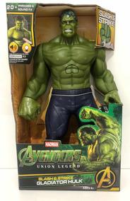 Boneco Heróis Vingadores Hulk Com Som E Luz 30cm