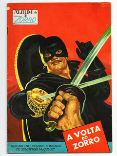 Hq Album De Zorro - N° 2 - A Volta Do Zorro - Ebal - 1974