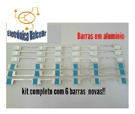 Kit 6 Barras De Led Toshiba 48 Dl4844 48l2400 Dl4845