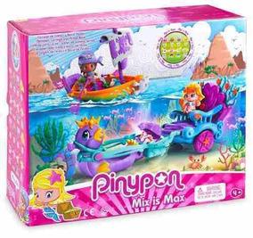 Set Carruaje De Sirenas Y Barco De Piratas Pinypon R4312