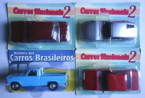Miniatura 4 Carros Nacionais Sp2 Vw Ze Do Caixão Monza Fordf