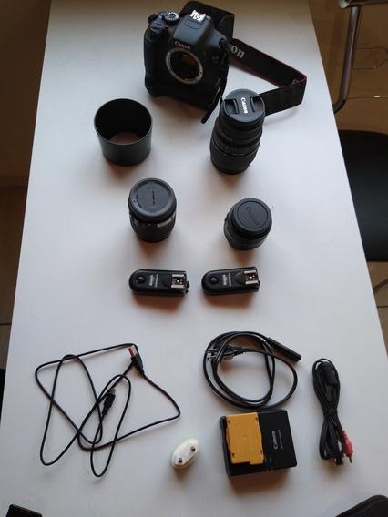 Máquina Fotográfica Com Acessórios