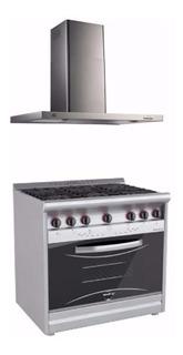 Combo Cocina Morelli Country 900 V + Campana 90cm Nihuil Cuo