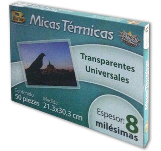 Micas Térmicas Para Enmicar Boflex 21.3x30.3cm 50 Pzs 8mil