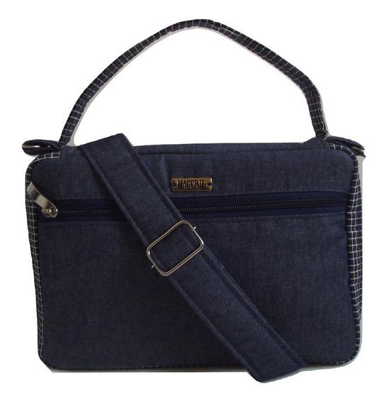 Bolsa Jeans Com Alça Tiracolo Para Bíblia Da Mulher Tulipa
