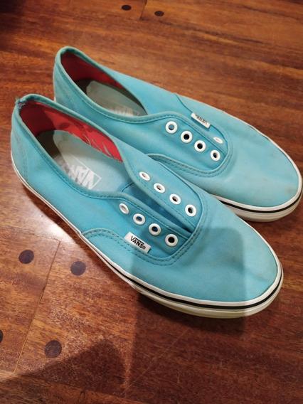 Zapatillas Vans Mujer Turquesas