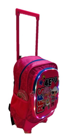 Mochila Carro Escolar Lol Surprise Original Grande 18´ Luces