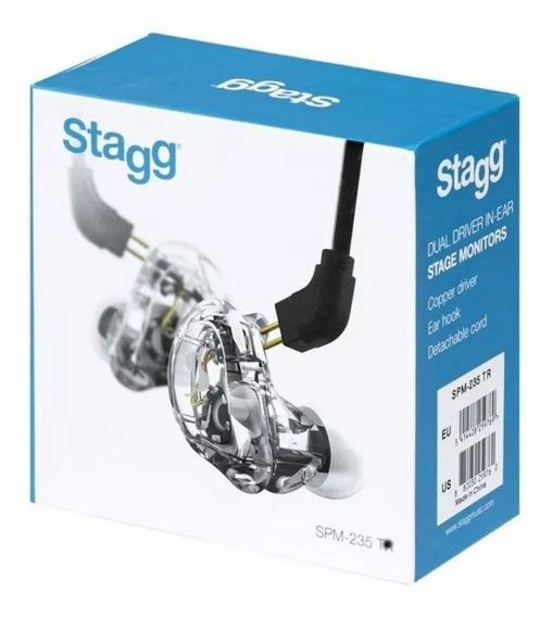 Fone Stagg Spm-235 In Ear Tr/bk Spm235