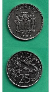 Grr-moneda De Jamaica 25 Cents 1986 - Colibrí