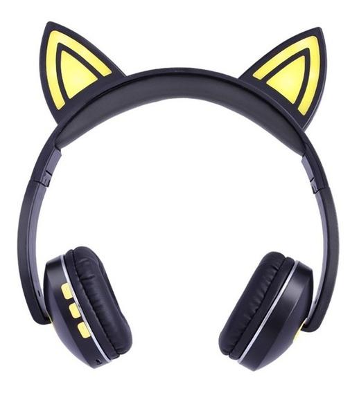 Diadema Bluetooth Gamer Orejas De Gato Manos Libres Luz Led