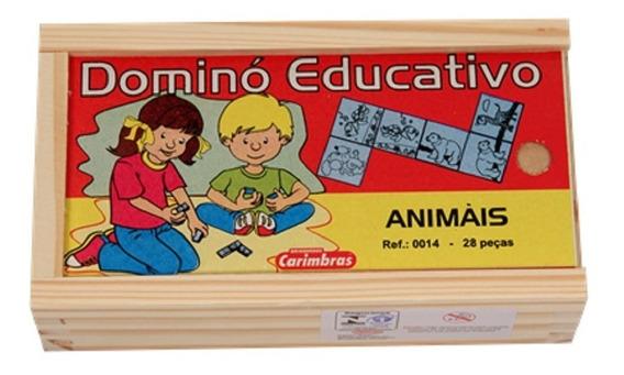 Jogo De Dominó De Animais - Carimbrás