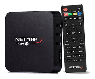 Netmak Nm-tvbox1 Tv Box 4k 8gb Android 7.1 Memo 8gb 1gb Ram