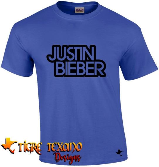 Playera Bandas Justin Bieber Mod. 04 By Tigre Texano Designs