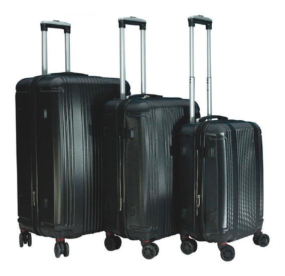 Set Valija Semirigida Travel Tech X3 Ruedas 360 Abs Cuotas