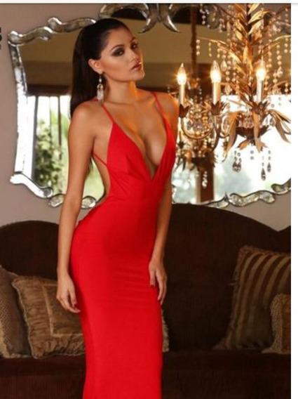 Vestido De Fiesta Largo Color Rojo Nuevo Importado De Usa