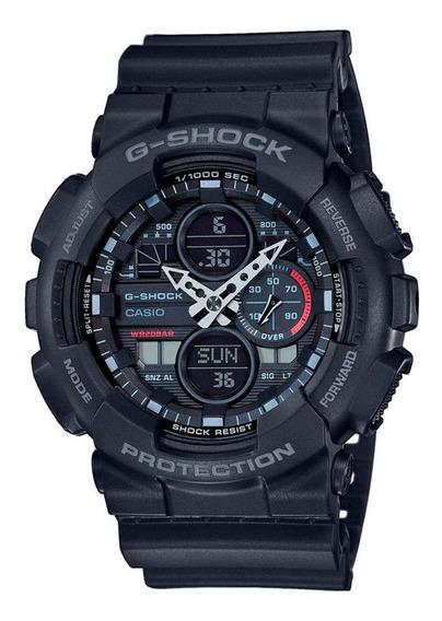 Relógio Casio G-shock Masculino Anadigi Preto Ga-140-1a1dr