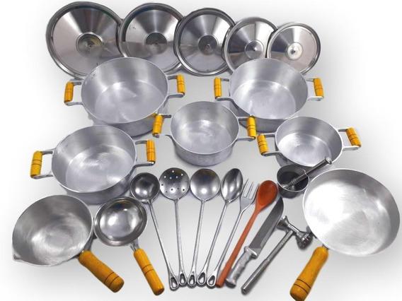 Jogo De Panelas Grossas Alumínio Fundido 17 Peças