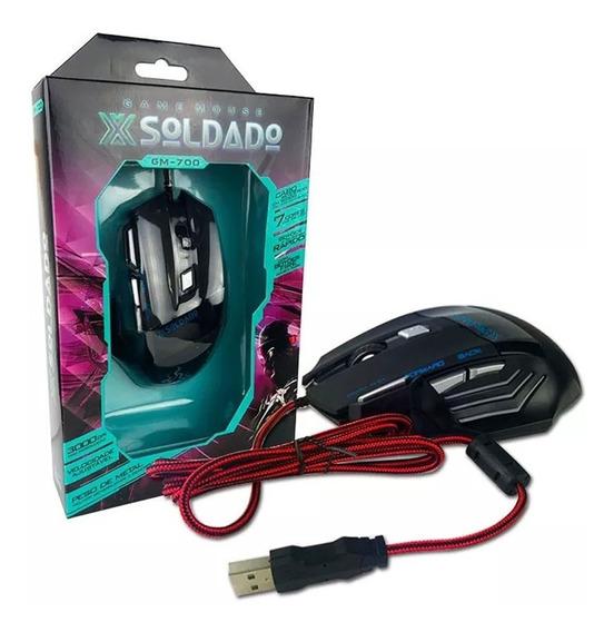 Mouse Gamer Xsoldado Com Led Extreme 7d Infokit Gm-700