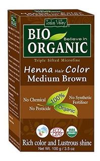 Valle Del Indo Bio Cabello De Henna Organico Color Marron Os