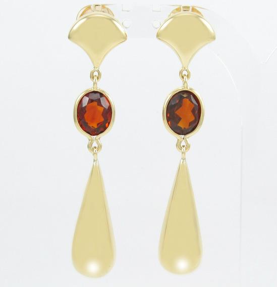 Esfinge Jóias - Brinco Design Pendentes Ouro Amarelo 18k 750